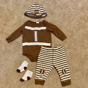 Baby Football outfit ( hat, socks, pants, shirt)